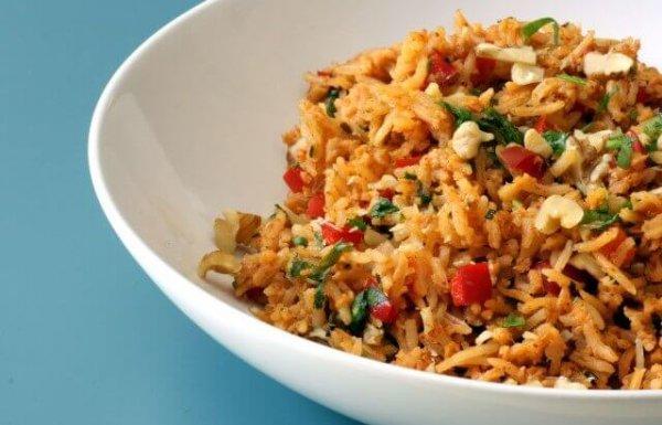 אורז עם ירקות וסויה (טבעוני, ללא גלוטן)
