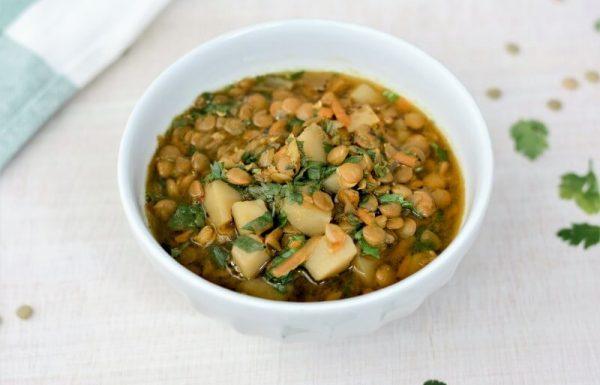 מרק עדשים ירוקות (טבעוני, ללא גלוטן)