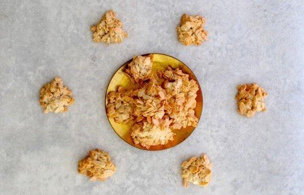 עוגיות שקדים קריספיות מ-3 מרכיבים! (ללא גלוטן)
